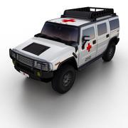일반 SUV 구급차 3d model