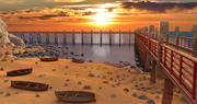 Dock Beach Landscape 3d model