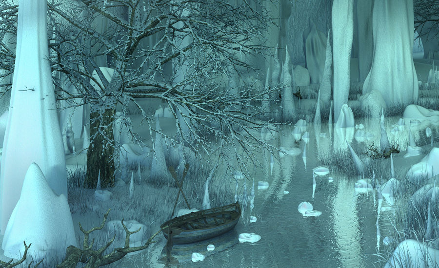 Winter Cave Environment royalty-free 3d model - Preview no. 4