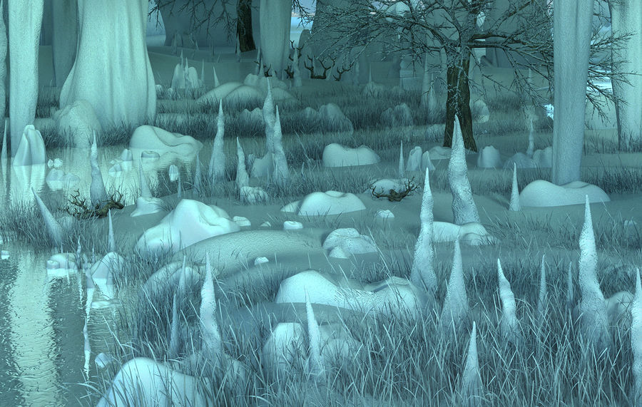 Winter Cave Environment royalty-free 3d model - Preview no. 6