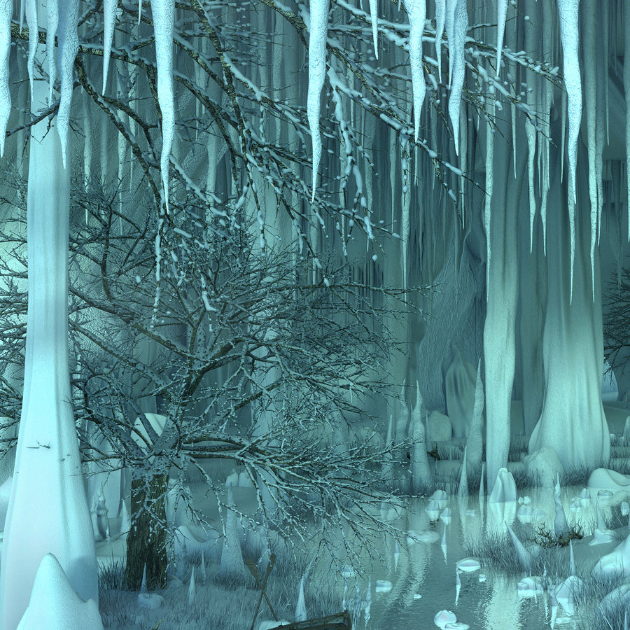 Winter Cave Environment royalty-free 3d model - Preview no. 8