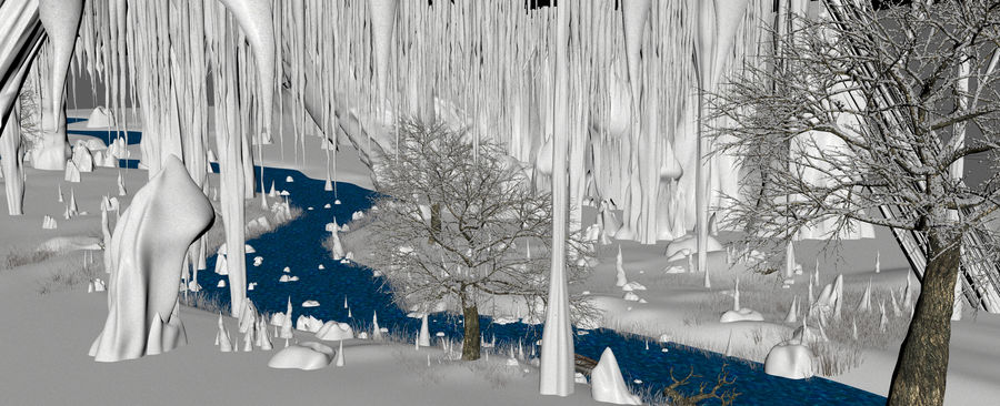 Winter Cave Environment royalty-free 3d model - Preview no. 11