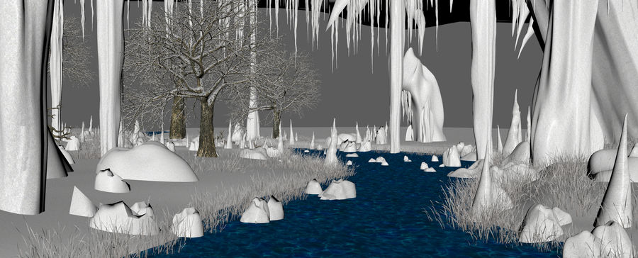 Winter Cave Environment royalty-free 3d model - Preview no. 18