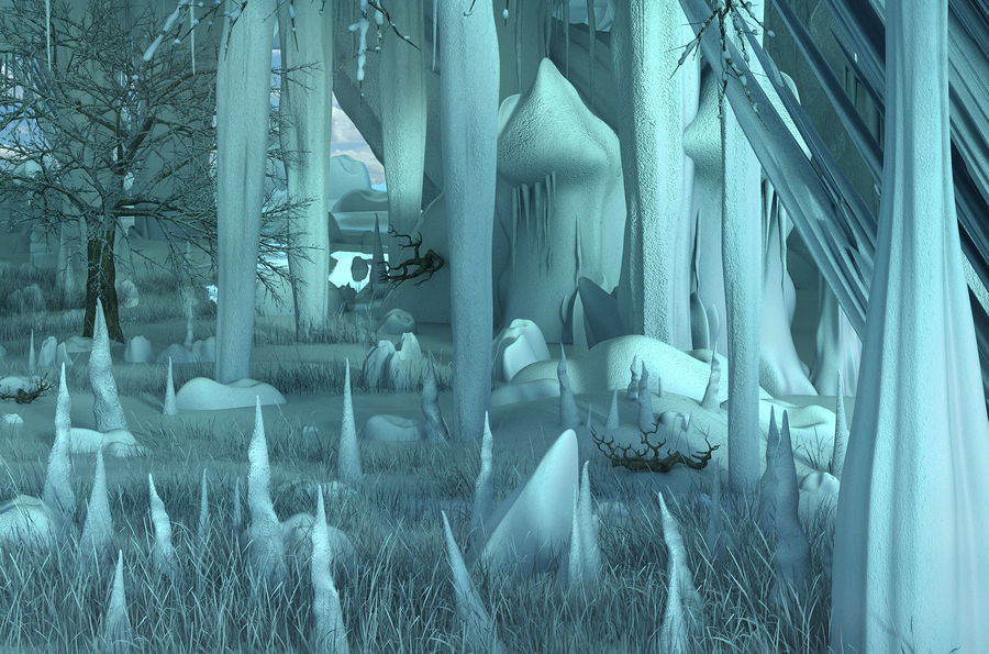 Winter Cave Environment royalty-free 3d model - Preview no. 5