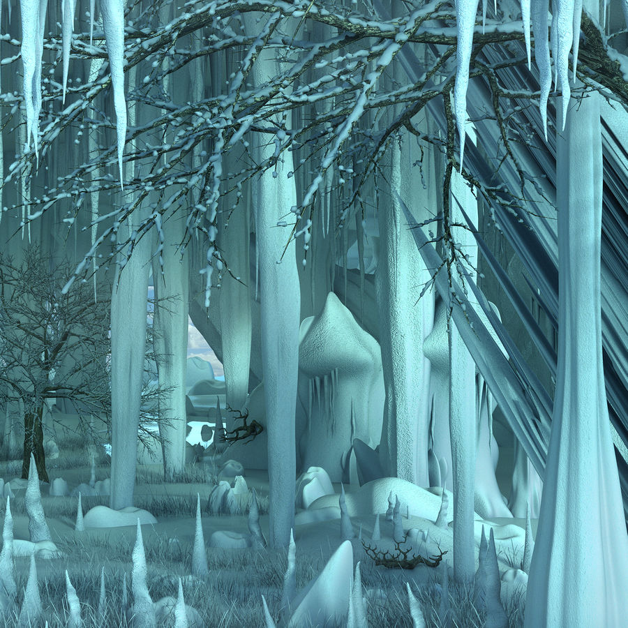 Winter Cave Environment royalty-free 3d model - Preview no. 9