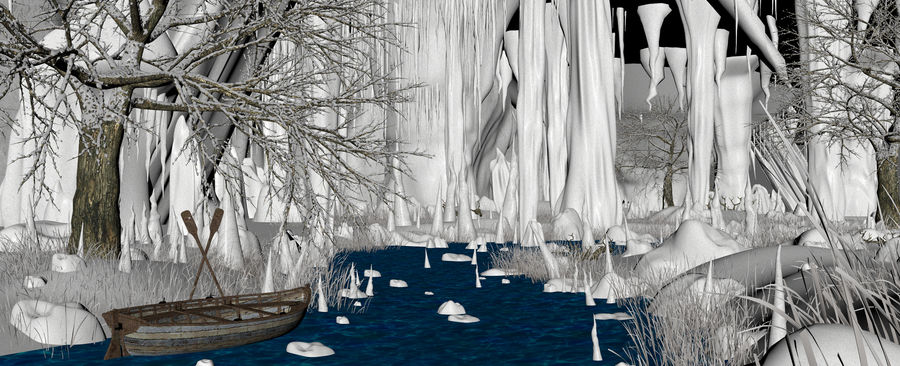 Winter Cave Environment royalty-free 3d model - Preview no. 13