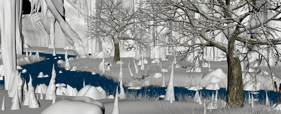 Winter Cave Environment royalty-free 3d model - Preview no. 15