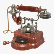 Teléfono antiguo de escritorio modelo 3d
