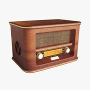 레트로 빈티지 라디오 3d model