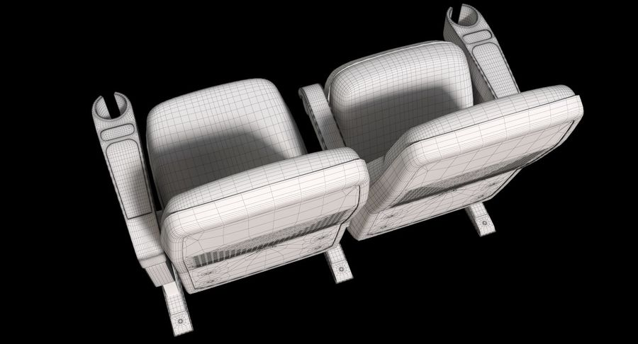 Cinema Chair royalty-free 3d model - Preview no. 17
