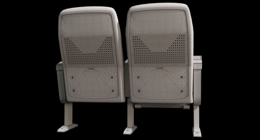 Cinema Chair royalty-free 3d model - Preview no. 14