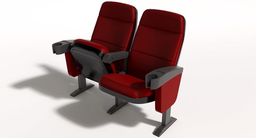 Cinema Chair royalty-free 3d model - Preview no. 2