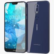 Nokia 7.1 Blu notte 3d model