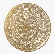 アステカカレンダー 3d model
