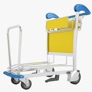 空港荷物用トロリー02 3d model