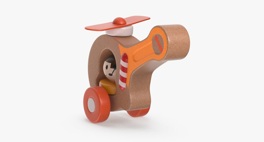 おもちゃのヘリコプター royalty-free 3d model - Preview no. 8