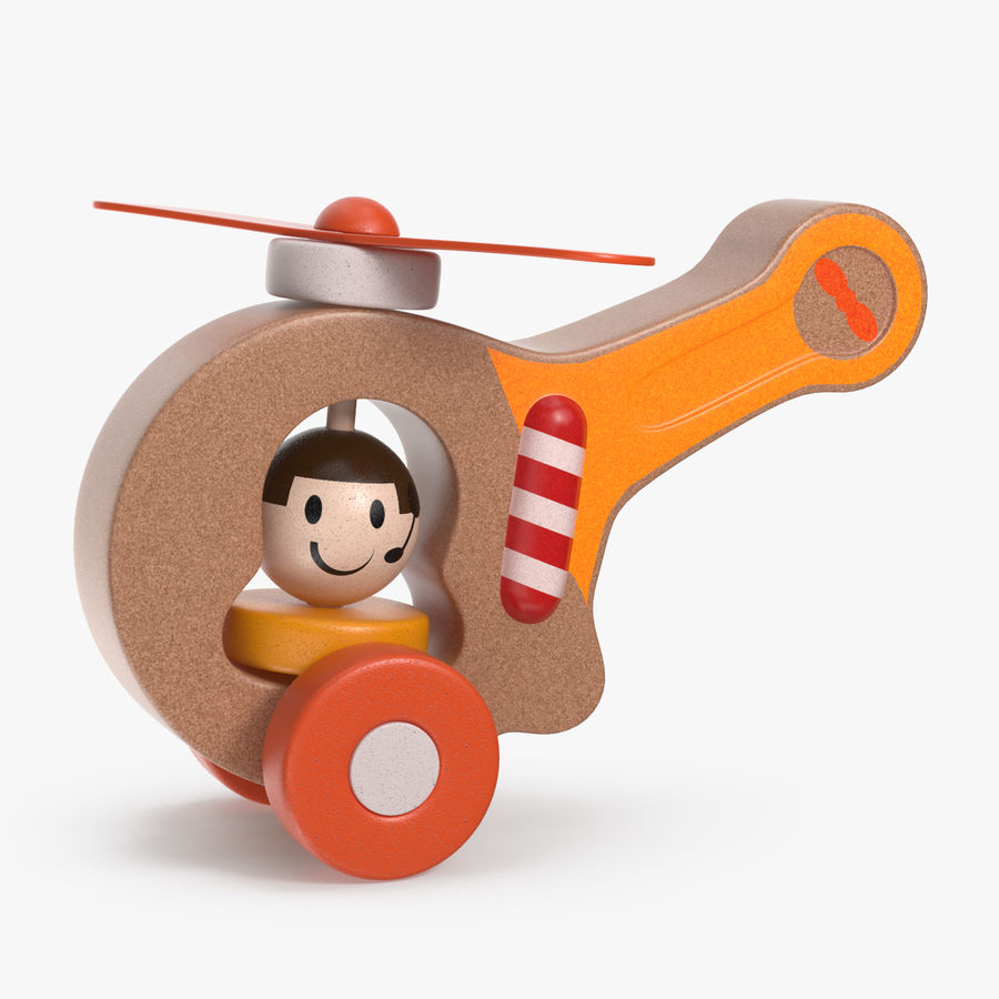 おもちゃのヘリコプター royalty-free 3d model - Preview no. 1