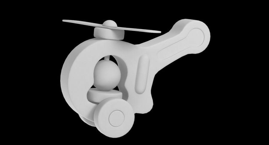 おもちゃのヘリコプター royalty-free 3d model - Preview no. 14
