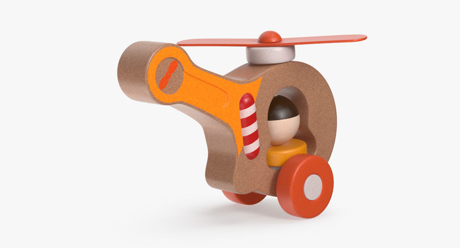 おもちゃのヘリコプター royalty-free 3d model - Preview no. 7