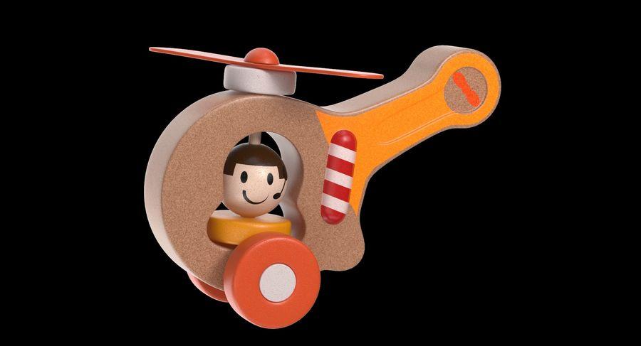おもちゃのヘリコプター royalty-free 3d model - Preview no. 3