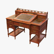 19th Century  Bankers Desk Bureau 3d model