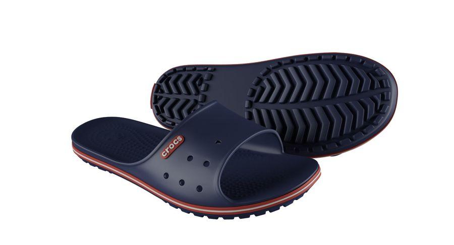 Crocs Crocband Slide Blue royalty-free 3d model - Preview no. 8