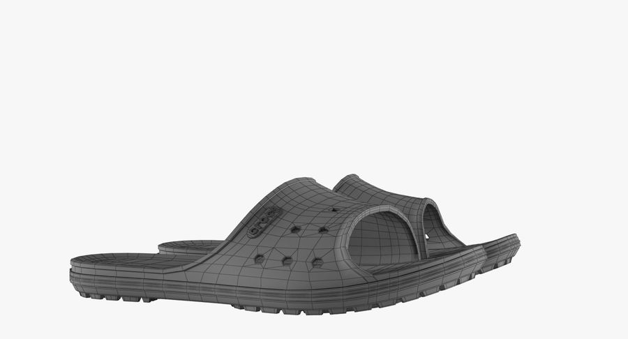 Crocs Crocband Slide Blue royalty-free 3d model - Preview no. 14