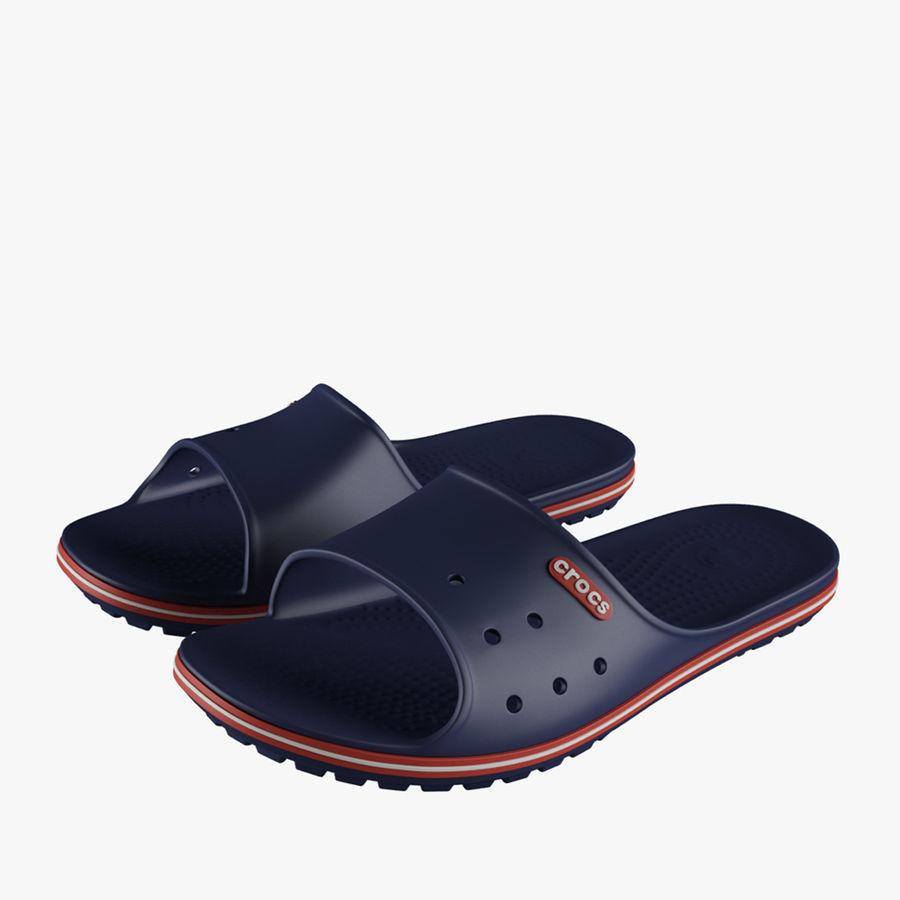 Crocs Crocband Slide Blue royalty-free 3d model - Preview no. 1