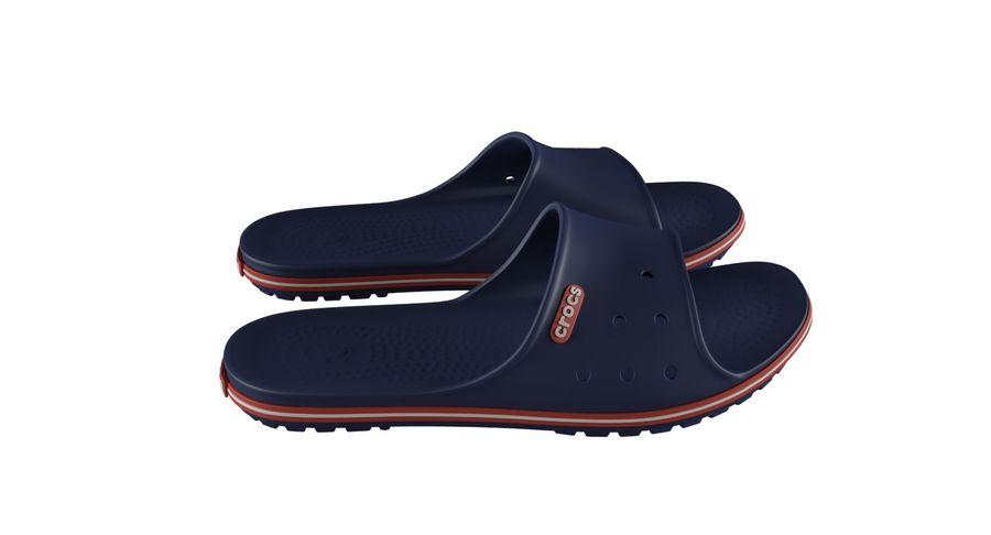 Crocs Crocband Slide Blue royalty-free 3d model - Preview no. 7