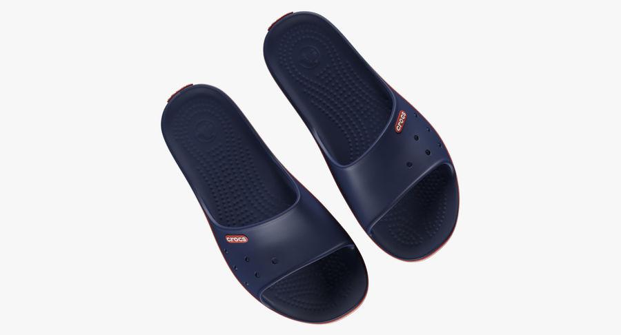 Crocs Crocband Slide Blue royalty-free 3d model - Preview no. 5