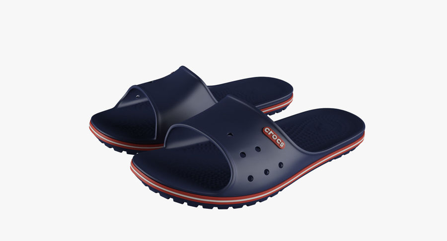 Crocs Crocband Slide Blue royalty-free 3d model - Preview no. 2