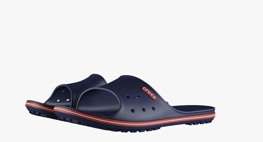 Crocs Crocband Slide Blue royalty-free 3d model - Preview no. 4
