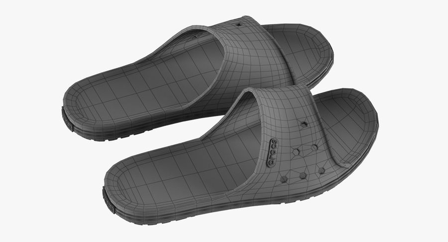 Crocs Crocband Slide Blue royalty-free 3d model - Preview no. 13