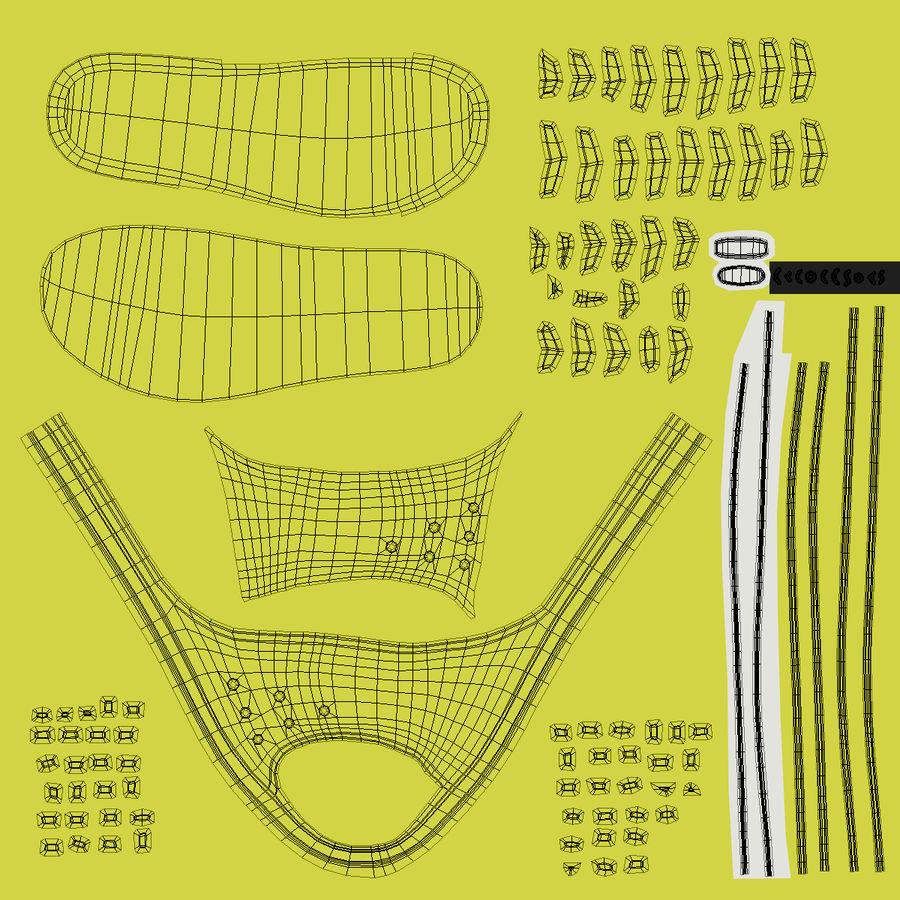 Crocs Crocband Slide Yellow royalty-free 3d model - Preview no. 16