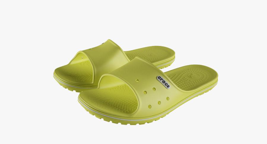 Crocs Crocband Slide Yellow royalty-free 3d model - Preview no. 2