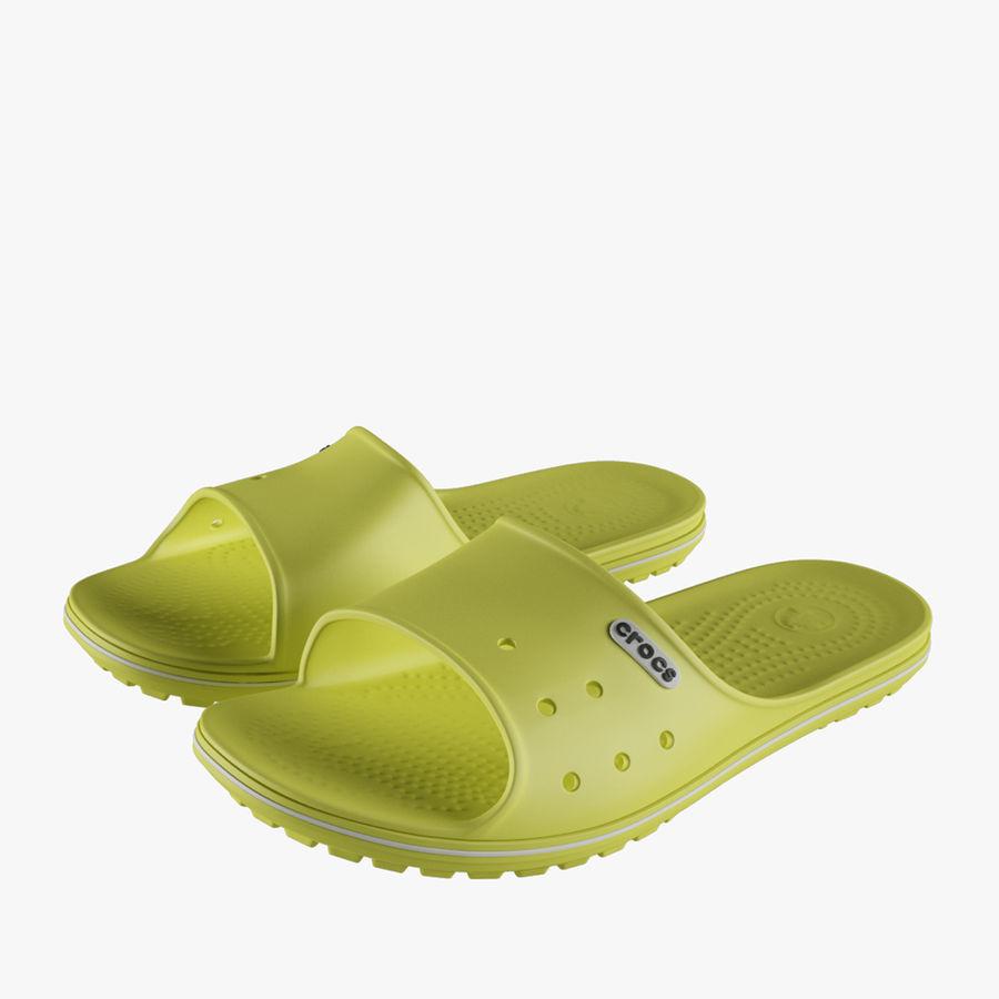 Crocs Crocband Slide Yellow royalty-free 3d model - Preview no. 1
