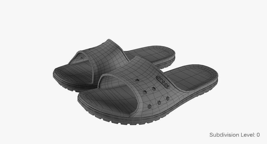 Crocs Crocband Slide Yellow royalty-free 3d model - Preview no. 9
