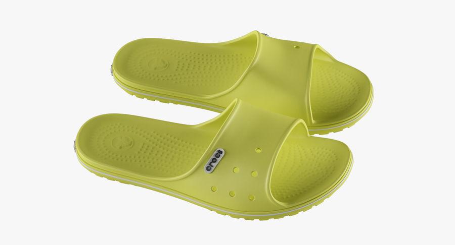 Crocs Crocband Slide Yellow royalty-free 3d model - Preview no. 6