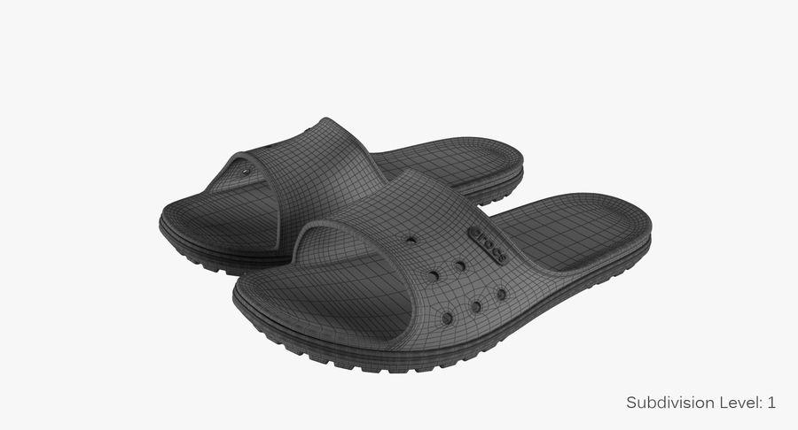 Crocs Crocband Slide Yellow royalty-free 3d model - Preview no. 10