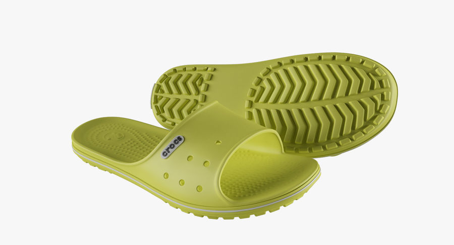 Crocs Crocband Slide Yellow royalty-free 3d model - Preview no. 8