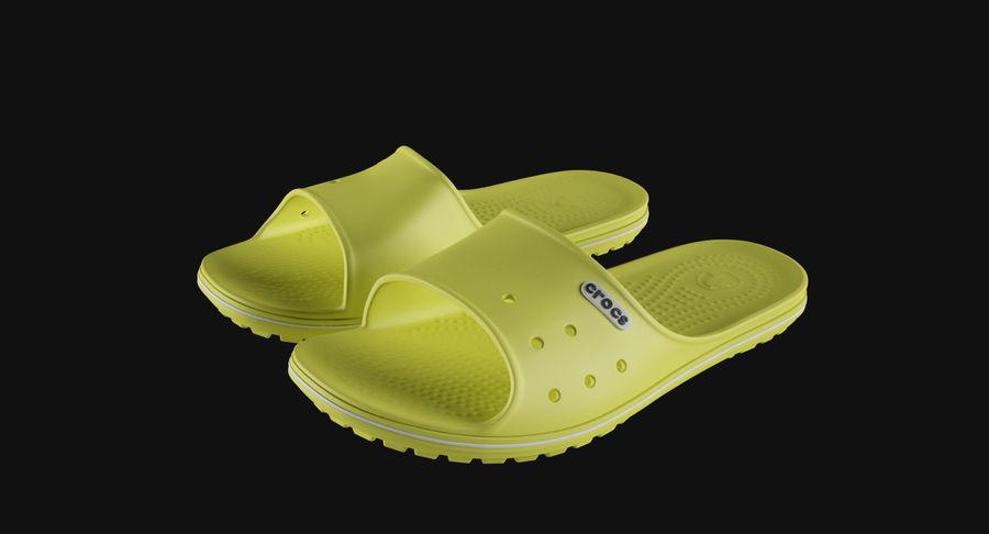 Crocs Crocband Slide Yellow royalty-free 3d model - Preview no. 3