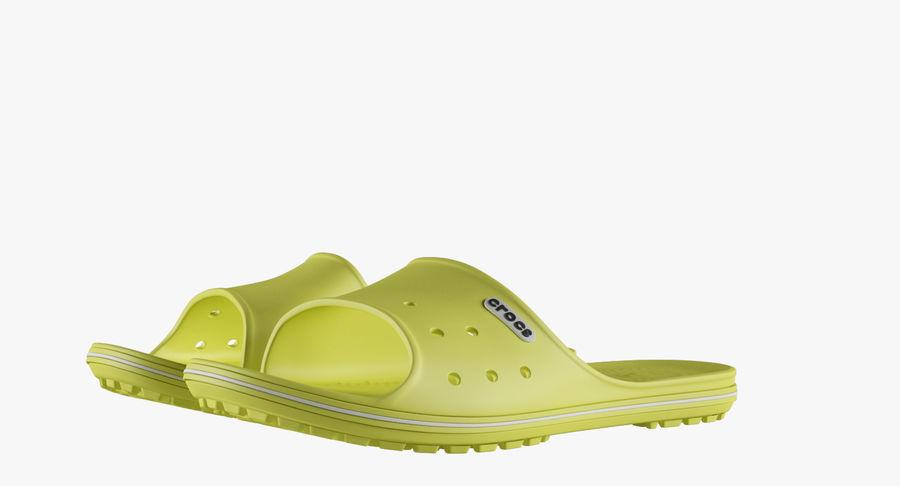 Crocs Crocband Slide Yellow royalty-free 3d model - Preview no. 4