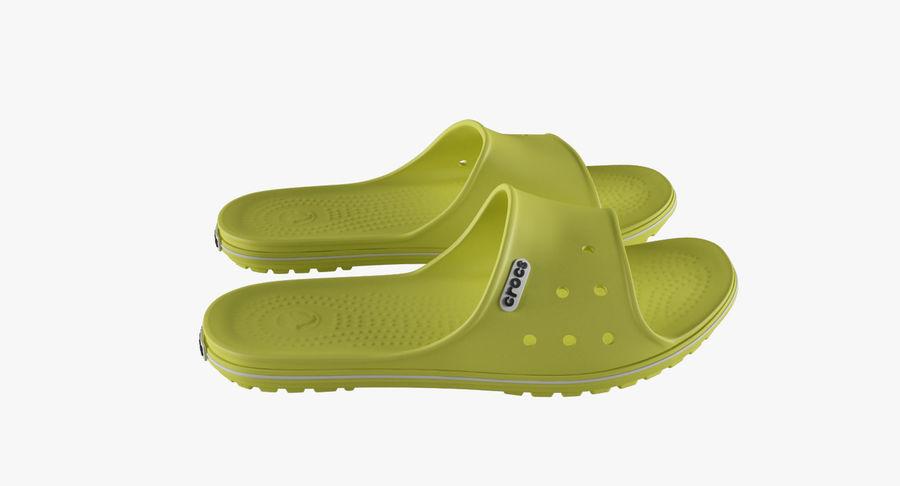Crocs Crocband Slide Yellow royalty-free 3d model - Preview no. 7