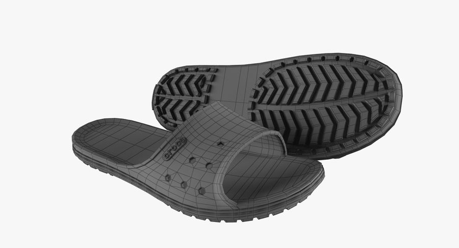 Crocs Crocband Slide Yellow royalty-free 3d model - Preview no. 15