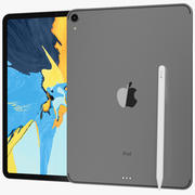 Apple iPad Pro 11 Wi-fi y Wi-fi + Cellular Space Grey modelo 3d