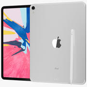 Apple iPad Pro 11 Wi-fi e Wi-fi + Prata celular 3d model