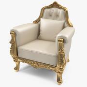 Throne Chair Small 3D模型 3d model