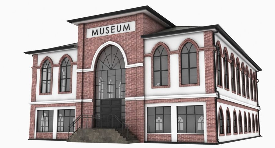 Museo royalty-free 3d model - Preview no. 3