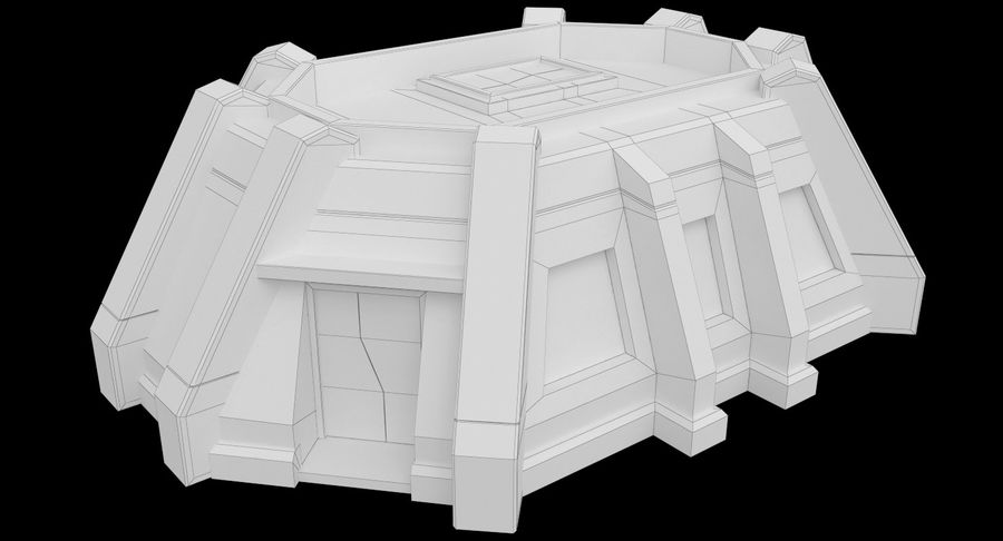 陣地壕 royalty-free 3d model - Preview no. 10