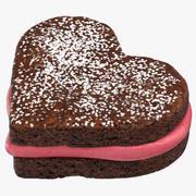 Heart Shaped Brownie 3d model